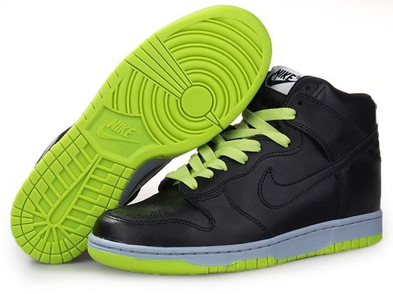Nike Dunk High Black Green Black