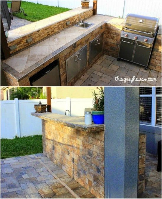 15 Amazing Diy Outdoor Kitchen Plans You Can Build On A Budget Outdoor Kitchen Plans Diy Outdoor Kitchen Outdoor Kitchen
