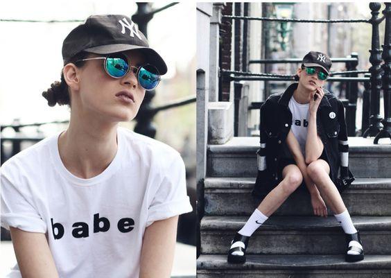babe.... #tomboystyle #tomboy #yankees #socksandsandals #womeninbaseballhats