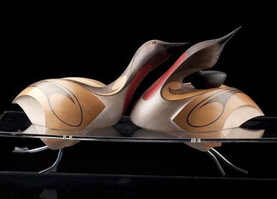 Red-Throated Loons by Rex Homan, Māori artist (KRX120102):
