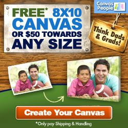 Canvas People - Free 8x10 OR $50 Off (Just Pay Shipping)