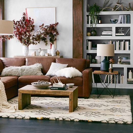 Sofa da thật tphcm gam màu nâu cho không gian ấm áp