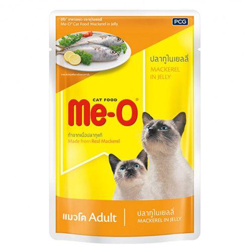 Meo ม โอ อาหารแมวชน ดเป ยกสำหร บแมวท กสายพ นธ ต งแต หย านมข นไป ส ตรปลาท ในเยลล 80g ปลาท น า หน แฮมสเตอร อาย