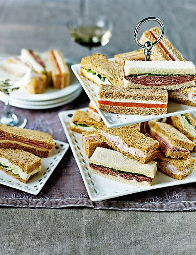Afternoon Tea Sandwich Fingers 20 Fingers - M&S Food, cheating made easy (and yummy).