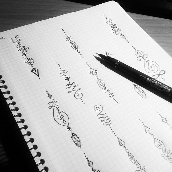 unalome arrow tattoo ideas design ink
