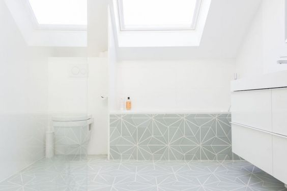 Salle de bain Auguste et Claire - Carreaux de ciment Mosaic del Sur