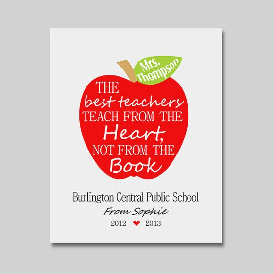 customized teacher print apple print apple typography teachers gift retirement gift - Teacher Pictures To Print