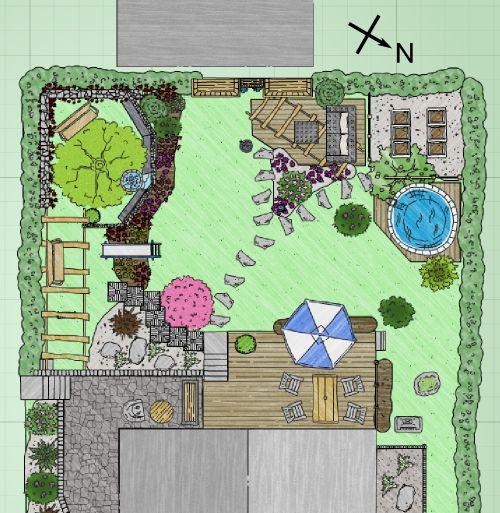 breiter, kurzer Garten Habt ihr Anregungen zu meiner Planung - gartenplanung software kostenlos deutsch