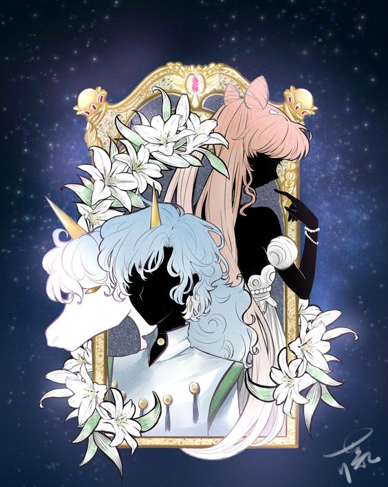 Chibiusa and Helios in Sailor Moon Crystal style