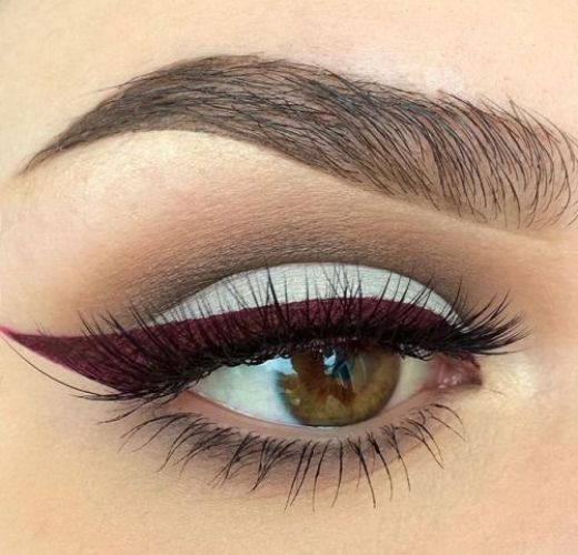 10 Hot White Eyeliner Ideas #2. White and Purple Eyeliner Combination #eyes; #eyemakeup; #eyeliner; #makeuptips; #makeup