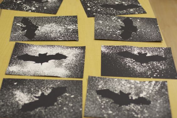Create a night sky with this splatter bat project (be careful, this might get a little messy!)