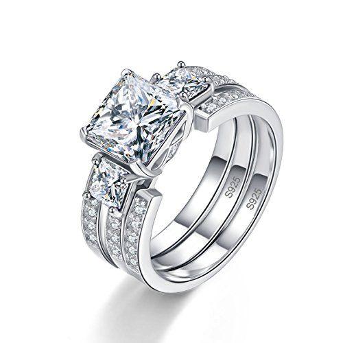 Sale Price 21 99 Bonlavie Women S 925 Sterling Silver Cz Past Present Future Wedding Band Engage Silver Wedding Rings Sets Wedding Ring Sets Rings For Her