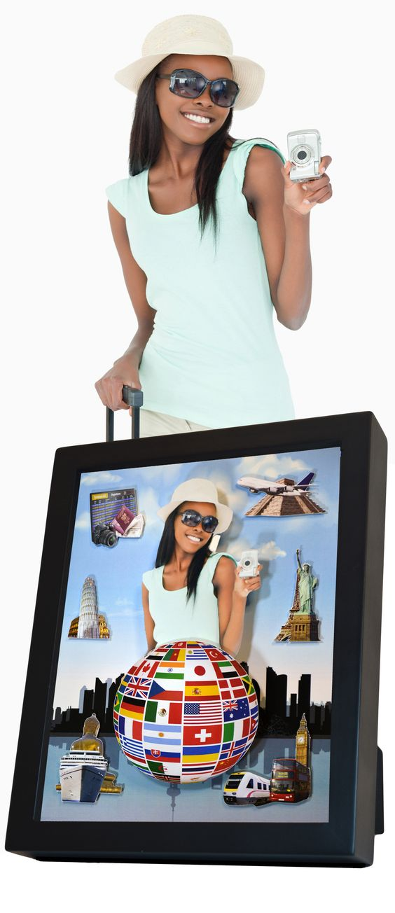 Personalized handcrafted shadow box with your photo. Themes for kids and adults. Great gift idea!