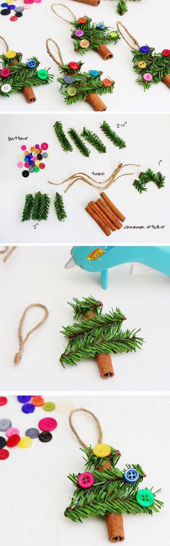 DIY Cinnamon Stick Trees  Ornaments  .
