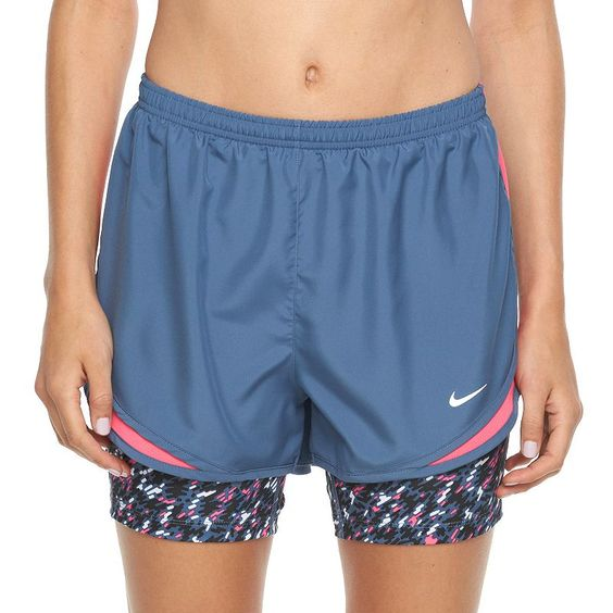 Women's Nike Tempo Printed 2-n-1 Compression Running Shorts, Size: