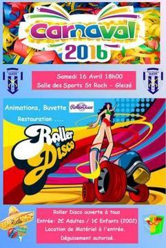 """Le Rink Hockey de Gleizé organise sa soirée """"Roller disco"""" le samedi 16 avril 2016 à 18h à la salle des sports Saint-Roch de Gleizé. Une soirée fun avec le Rink Hockey de Gleizé. Animations, buvette, restauration. Soirée ouverte à tous."""