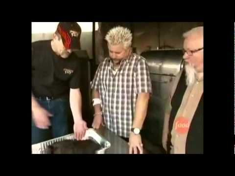 Diners, Drive-Ins, & Dives: Smokin' Guns BBQ-sounds yummy esp the turkey and brisket