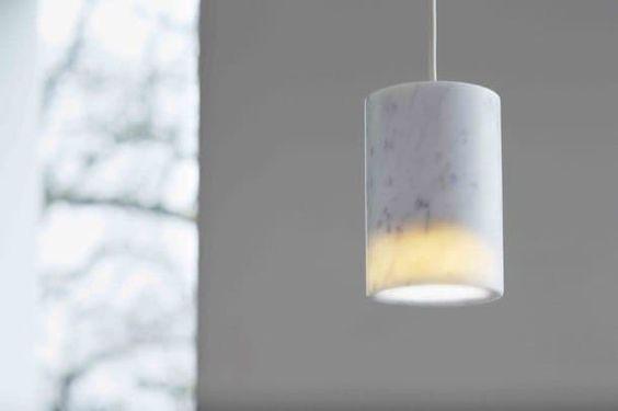 SOLID lámparas de techo mármol carrara