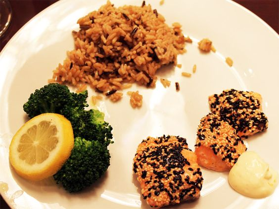 Sesame-Crusted Salmon with Orange-Ginger Sauce | Food | Pinterest ...
