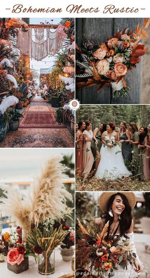 Top 11 Most Glamorous Boho Wedding Ideas Bohemian Wedding Theme Wedding Colors Sunset Wedding