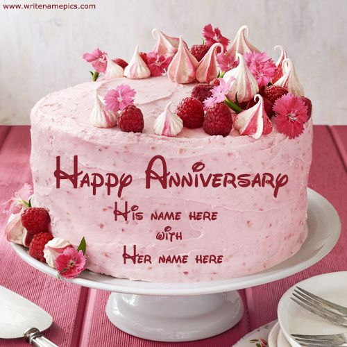 anniversary cake with name and photo editor online free