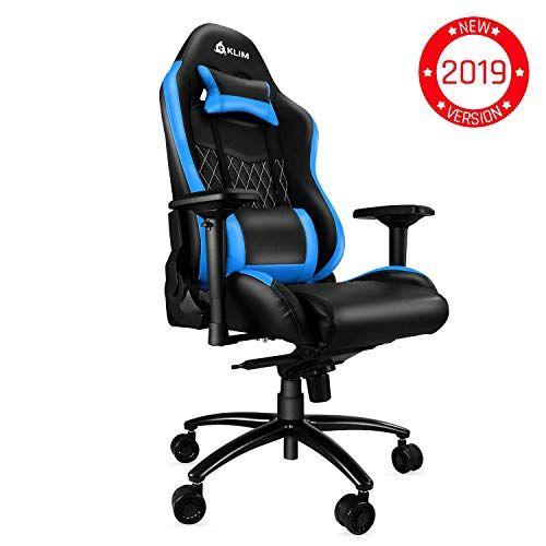 Ergonomique Chaise de Gamer Fauteuil de Bureau Racing Inclinable avec Support Lombaire pour PC Chaise de Bureau,Noir SITMOD Chaise Gaming de Massage Chaise de Jeu avec Repose-Pied