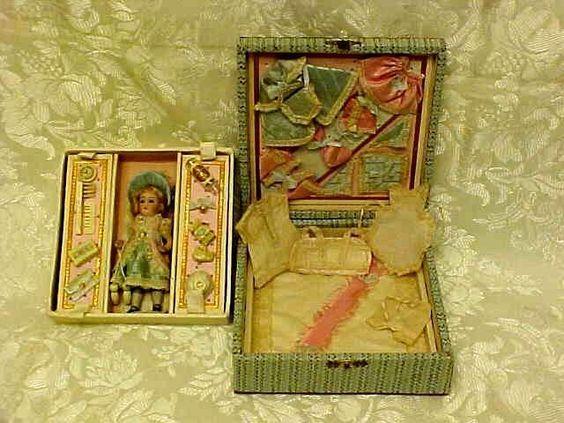 Antique Presentation Box Mignonette Doll Perfect Condition | eBay