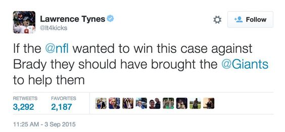 Lawrence Tynes is a savage