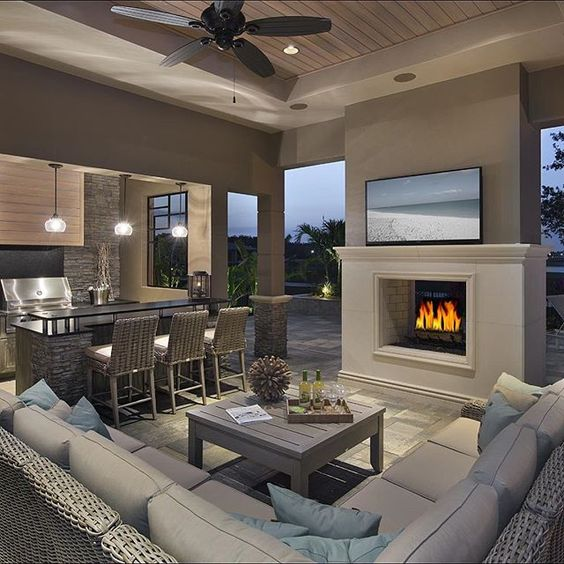 1000 ideas about covered outdoor kitchens on pinterest for 2 living rooms in one space