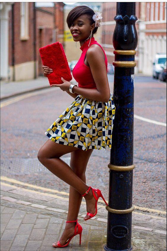 African skirt by Laviye ~African fashion, Ankara, kitenge, Kente, African prints, Senegal fashion, Kenya fashion, Nigerian fashion, Ghanaian fashion ~DKK: