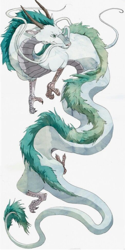 Spirited Away Haku Haku Japonaise Spirited Ghibli Tattoo Ghibli Art Dragon Drawing
