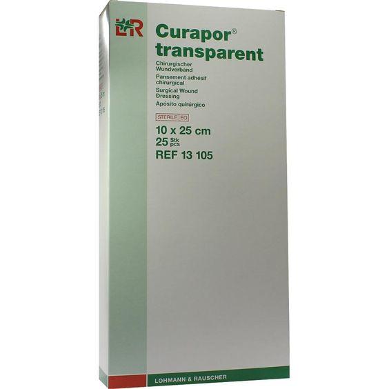 CURAPOR Wundverband steril transparent 10x25 cm:   Packungsinhalt: 25 St Pflaster PZN: 02914187 Hersteller: Lohmann & Rauscher GmbH &…