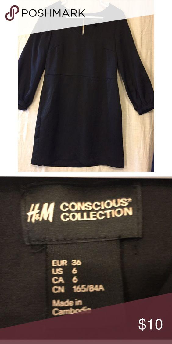 H&M simple black dress  Conscious  Collection H&M simple black dress  from their Conscious  Collection. Side zipper. H&M Dresses