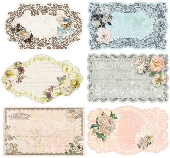 prima fairy belle collection journaling notecards in a box 2 vintage labels belle and. Black Bedroom Furniture Sets. Home Design Ideas