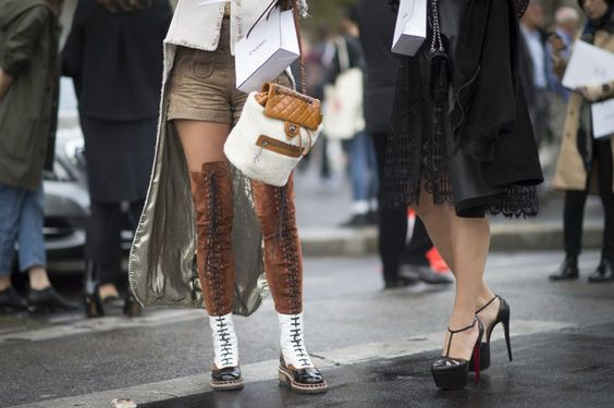 Pin for Later: Proof the Prettiest Street Style Accessories Were at Paris Fashion Week Day 8 Chanel accessories.
