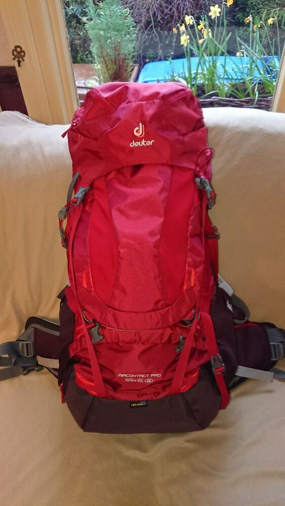 detailed look best website various design Deuter AirContact Pro 55+15L SL - Cranb/Auber with raincover ...