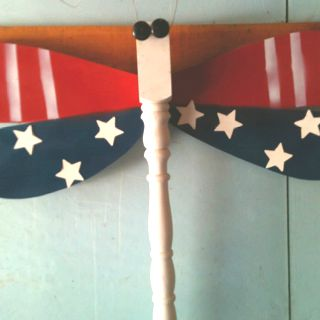 Table leg patriotic dragon fly!