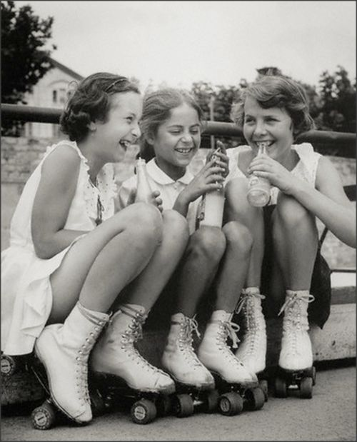 Girls, Soda Pop and Rollerskates, 1950s: