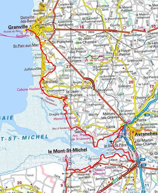 Gr223 Randonnee De Granville Au Mont Saint Michel Manche Mont Saint Michel Iles Chausey Saint Michel