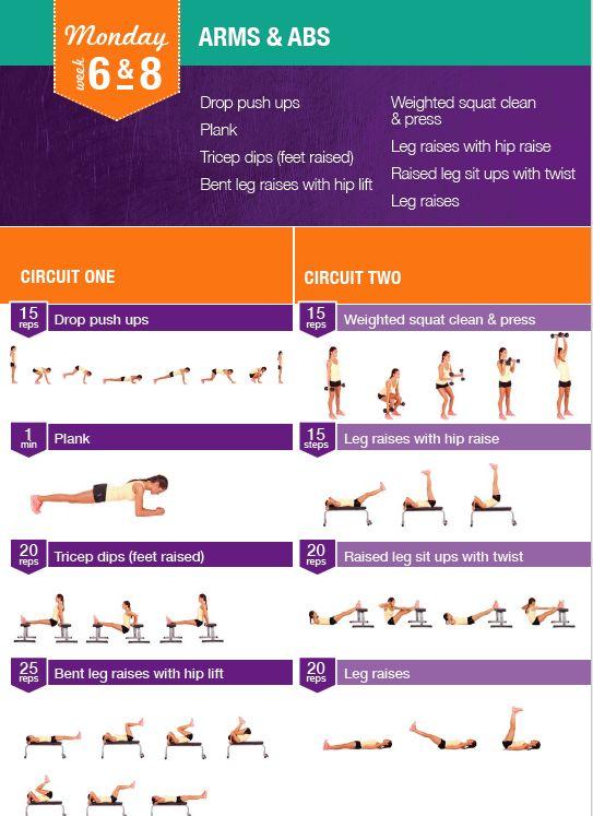 Kayla Itsines Week 6 Amp 8 Monday Workout I Work Out