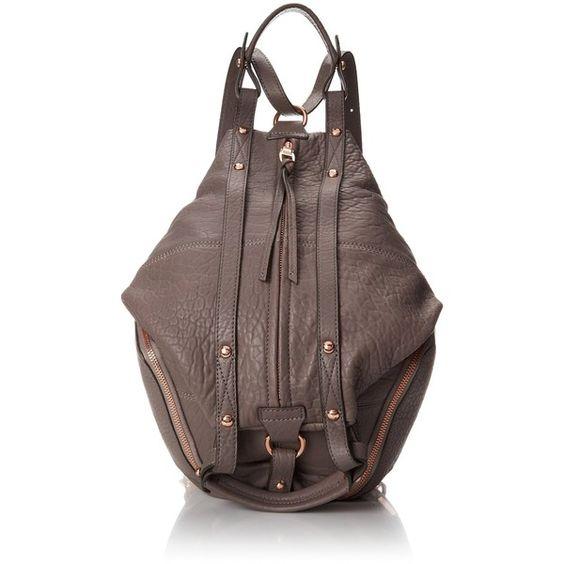 Kooba Handbags Jessie Backpack ($498) ❤ liked on Polyvore featuring bags, backpacks, knapsack bags, strap bag, kooba bags, backpacks bags and brown bag