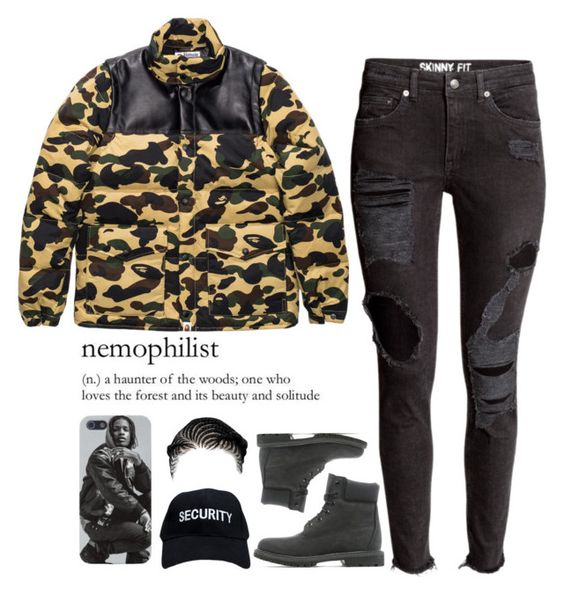 """""""Momma Louisiana"""" by forevaahannah ❤ liked on Polyvore featuring A BATHING APE, Timberland, women's clothing, women, female, woman, misses and juniors"""