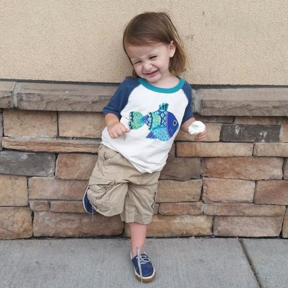 White Graphic Tee Shirt for Baby Boys | Tea Collection