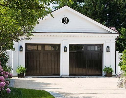 hot sales fe50a 2d693 High-gloss black garage doors act like a mirrored surface ...