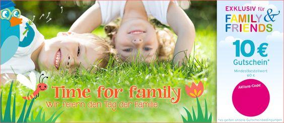 Sichert euch  noch einen 10 € Gutschein für alles rund um die Familie!