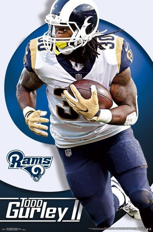 8 99 Todd Gurley Los Angeles Rams Official Nfl Football Action Wall Poster Ebay Collectibles Todd Gurley Fantasy Football Shirt Official Nfl Football