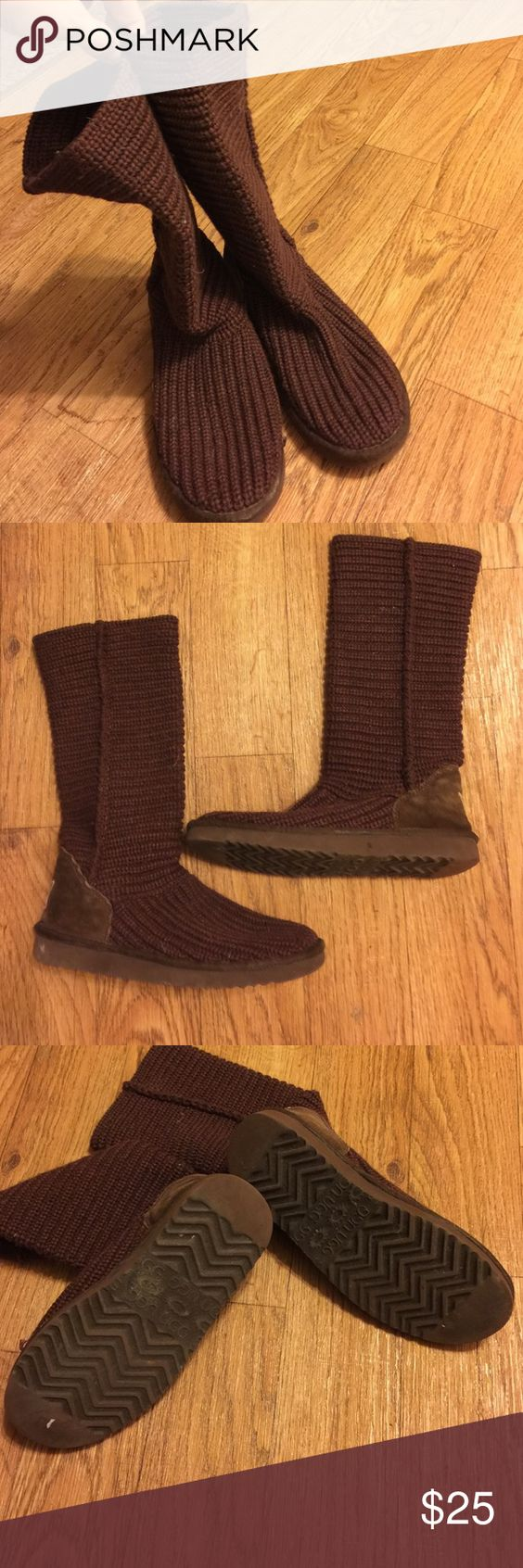 UGG BOOTS BROWN SIZE 7 WOOL WOOL ugg boots slightly worn size seven like new UGG Shoes Mules & Clogs