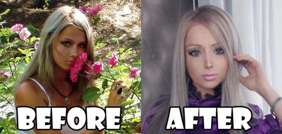 Valeria Lukyanova: human-barbie-before   Wow!!   Pinterest ...
