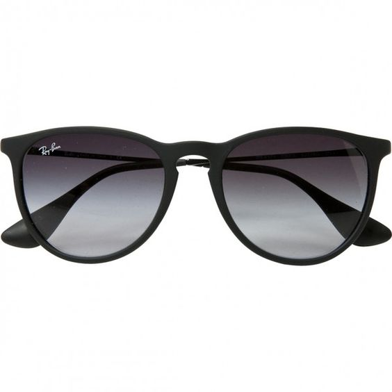 Black Metal Sunglasses RAY-BAN (140 AUD) ? liked on Polyvore featuring accessories
