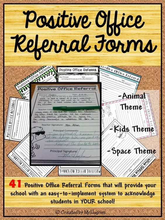 Positive Office Referral Forms Student-centered resources, The o - referral form